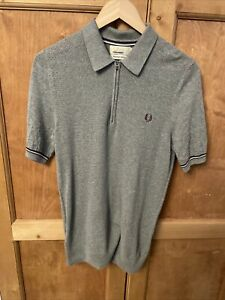 Men's Fred Perry x Bradley Wiggins Grey Polo Shirt - Size S