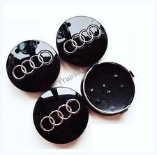 4 X 60MM Black AUDI Wheel Caps Alloy Centre Fits A 2 3 4 5 6 RS4 TT Q7 4B0601170