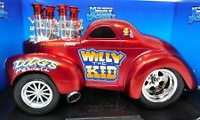"""1:18 Funline Muscle Machines 1941 Willy's Coupe """"Willy the Kid"""" in red #71166"""