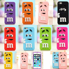 Adorable Cartoon M&M Silicone souple Housse Etui Coque Pour iPhone 5 6 7 8 Plus