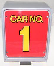 SEGA VIRTUA RACING GAME:  BACK LIT #1 ONE LIGHTED SIGN BOX, SET-UP, VIRTUAL