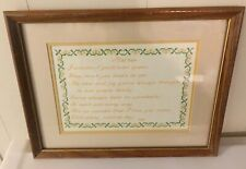 Cross-Stitch Mother Poem Words Love To Mom From Husband Or Child Framed Gift