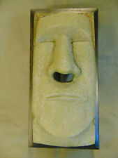Novelty tissue box cover plastic antique looking face nose opening Easter Island