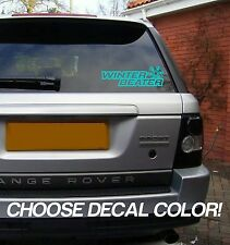 "Winter Beater 8"" Vinyl Sticker Decal car window bumper laptop jdm euro snow 4x4"