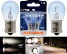 Sylvania Silverstar 7506 25W Two Bulbs Stop Brake Rear Light Replacement OE Fit