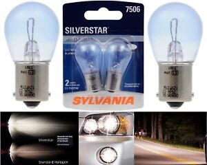 Sylvania Silverstar 7506 25W Two Bulbs Stop Brake Rear Light Upgrade Replacement