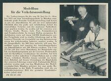 Verkehrsausstellung Modelleisenbahnanlage Modellbau-Club München Bundesbahn 1953