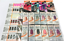 24 Pc Wholesale Lot ~Sally Hansen Salon Effects Real Nail Polish Strips Mixed!