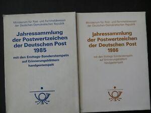 DDR Sammlung ETB Jahressammlungen m Ersttagssonderstempel kpl 1985-90Kat 1100,00