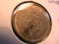 1940 British West Africa 6P Extra Fine+ (XF/AU) Original Six Pence World Coin