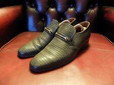 Loake Slip on Vintage Loafers Grey Leather Size 7.5 (UK) 41.5 (EU) 8 (US)