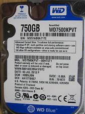 WD 750 GB WD7500KPVT-00HT5T1 DCM:HBBVJBN| 03SEP2013 2060-771672-004 RevA