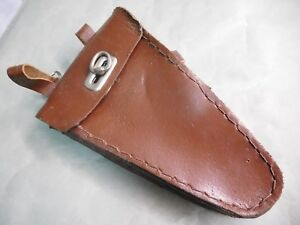 VINTAGE Bicycle Leather Frame Triangle tool Bag brown NOS