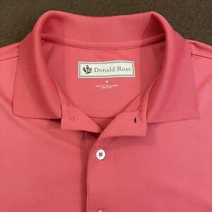 Mens DONALD ROSS Solid Pink Performance Golf Polo Shirt Medium