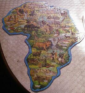 Africa Vintage Waddingtons Jig Map Puzzle