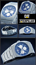 HIGH QUALITY MULTIFUNCTION COMPLETE CALENDAR CAT MEN'S WATCH 10 BAR NEW