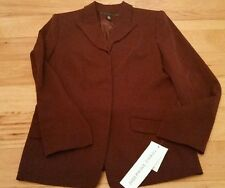 Suit Jacket Size 10 Josephine Chaus Red Women 100% Polyester Burgandy NWT