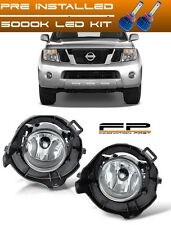 For 05-12 Nissan Pathfinder LED Clear Replacement Fog Light Housing Assembly L/R