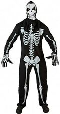 Déguisement Homme SQUELETTE Noir M/L Adulte Halloween NEUF