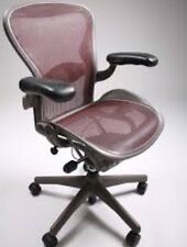 Herman Miller Aeron (RARE RED) EXCELLENT! Chair Size B fully adjustable lumbar