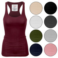 KOGMO Womens Basic Cotton Ribbed Knit Racerback Tank Top 1-Pack or 3-Pack (S-XL)