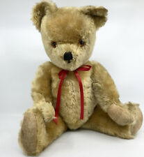 Pedigree British Teddy Bear Gold Mohair Plush 48cm 19in Squeaker Jointed c1960s
