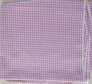 Lot 1019 Fabric, 1 Yard, Purple White Plaid, Looks Like Light Weight Cotton