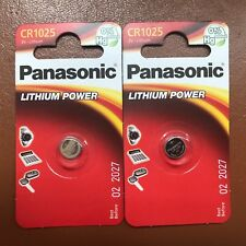 2 x PANASONIC CR1025 DL1025 1025 3V Lithium coin cell Batteries LONGEST EXPIRY