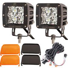 """20W LED Pods Light Spot Beam 3"""" Cube Led Fog Light Wire Harness Kit for Trucks"""