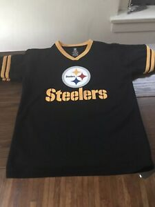 Pre OwN Pittsburg  Steelers NFL TEAM  Jersey Shirt  Youth Large (10-12) Unisex