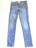 AEROPOSTALE Women's Ashley Stretch Ultra Skinny Blue Denim Jeans Size 0 Regular
