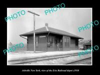 OLD LARGE HISTORIC PHOTO OF ASHVILLE NEW YORK, THE ERIE RAILROAD DEPOT c1910 2