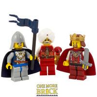 3x Kings - Castle Nativity Kingdoms Minifigure - 3x Lego King Minifigures