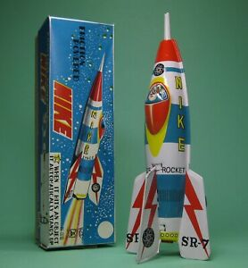FRICTION POWER NIKE ROCKET ROBOT MASUYA MADE IN JAPAN MINT BOXED FROM OLD STOCK!