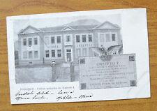 CARTOLINA PIOSSASCO SCUOLE UMBERTO I RARA VIAGGIATA 1902 SUBALPINA ZZ