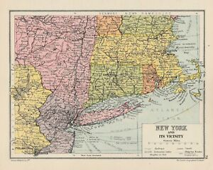 Map of New York and its Vicinity by George Philip c1934