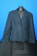Women's coat, vintage, hip length, wool, polyester, acrylic, 3 pockets, blue, 8