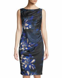 New Donna Karan, floral print dress Size US6, UK10  RRP $139