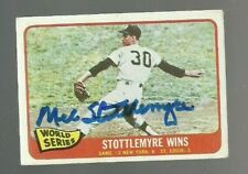 Mel Stottlemyre 1965 Topps World Series signed auto autographed card Yankees