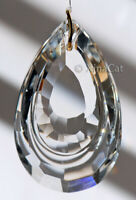 Pear Shaped SunCatcher - Huge 63mm Loop Austrian Crystal Clear Prism 2.5""