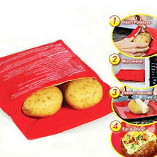 Potato Express Microwave Cooker Red Bag 4 Minutes Fast Reusable Washable New