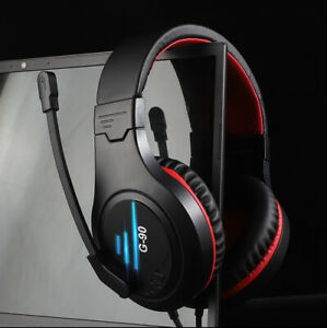 Gaming Headset For Xbox One PS4 PS5 Nintendo Switch PC 3.5mm Mic Headphones LED