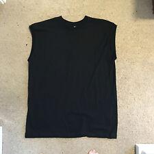 AMERICAN APPAREL SLEEVELESS BLACK Shirt Vest dead drop Death Grunge Gym