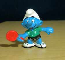 Smurfs Table Tennis Smurf Ping Pong Paddle Vintage Figure Sports Figurine 20227