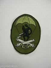Patch Toppa Militare Esercito Italiano 185 Rgt. Paracadutisti Folgore Verde Old