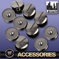 Set Of 10 Black Replica Belt Screws for WWE Wrestling Belts