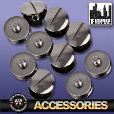 Set Of 10 Black Replica Belt Screws for WWE Wrestling Belts