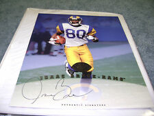 Isaac Bruce St. Louis Rams Signed 97 Leaf Certified Authentic 8x10 Photo Memphis