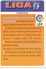 COMODIN # CHECK LIST OFFICIAL TRADING CARD MUDICROMO LIGA 1996