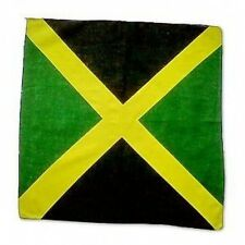 NUOVO Unisex Costume STILE RASTA JAMAICA FLAG Reggae Bandana Collo Sciarpa Biker